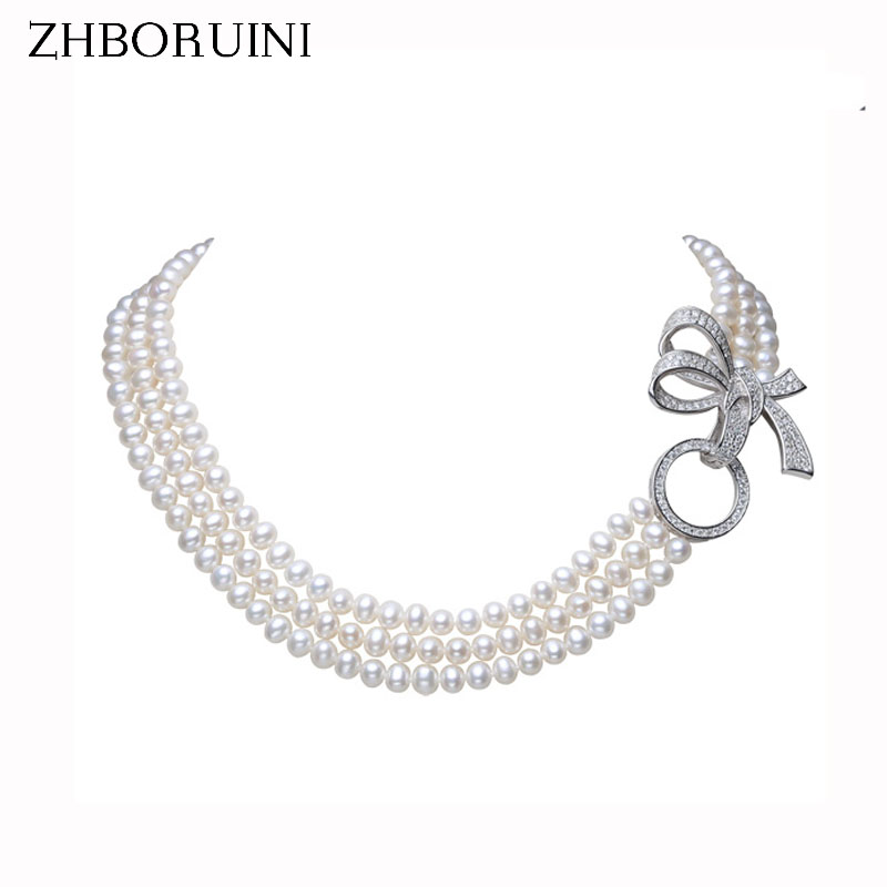 ZHBORUINI 2019 Pearl Necklace Natural Freshwater Pearl Jewelry Choker Necklace Women Statement Necklace Jewelry For Women GiftZHBORUINI 2019 Pearl Necklace Natural Freshwater Pearl Jewelry Choker Necklace Women Statement Necklace Jewelry For Women Gift