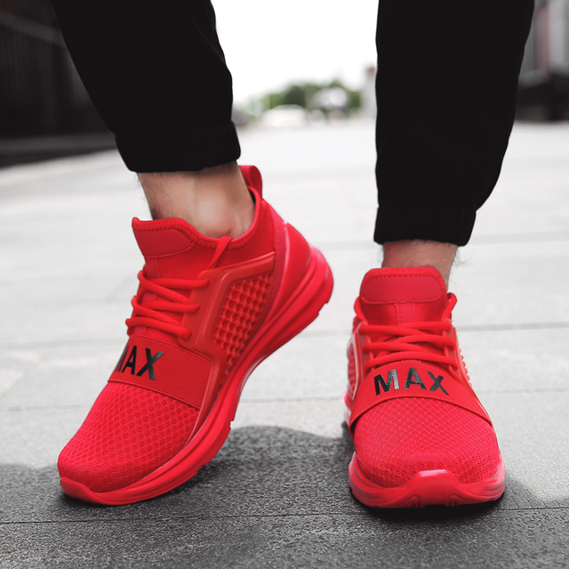 38901c45ac8b3 LUONTNOR Light Men Women Sport Shoes Mesh Breathable Running Shoes Outdoor  Walking Sneakers Trainers Zapatillas Red