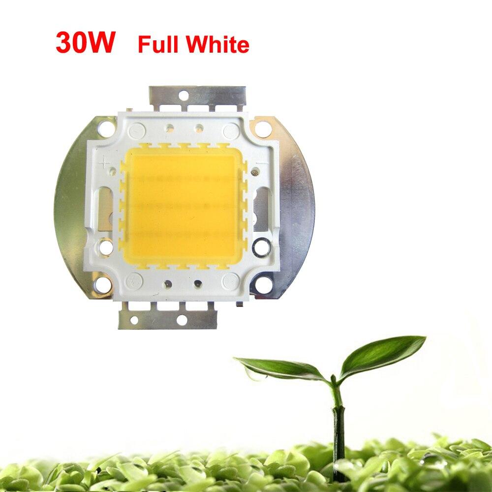 Lot 1 2 5 10 20pcs 30W Watt White Full Spectrum 380~780nm 45mil 2700LM 30V-36V 900mA SMD LED Part Diodes For Plant Grow Light