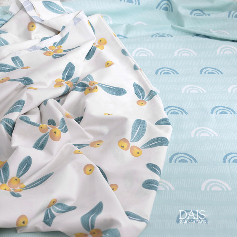 Саржевая хлопковая новая широкая хлопковая ткань может быть настроена на простыни, пододеяльник, ширина ткани 2,35 метра, маленький kumquat