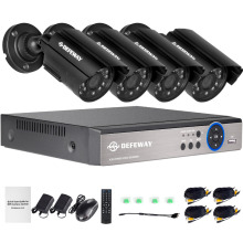 DEFEWAY 1080N HDMI DVR 1200TVL 720P HD Outdoor Home Security Camera System 4CH CCTV Video Surveillance DVR Kit AHD Camera Set