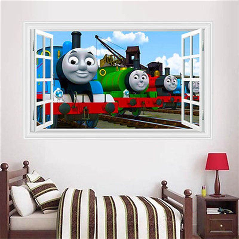 Aliexpress.com : Buy Cartoon Movie Thomas 3D Window Wall Sticker ...