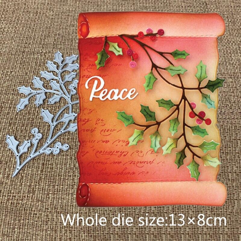 New Design Craft Metal Cutting Die Cut Die New Branch Leaf Fruit Scrapbooking Album DIY Paper Card Craft Embossing Die Cuts