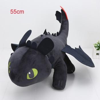 55cm 22cm 33cm 40cm Train Dragon Toothless Dragon Soft Stuffed Animal Plush Toys Juguetes de Peluches Bebe 12
