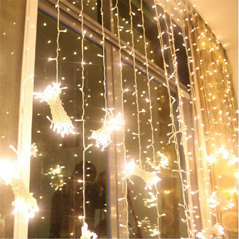 300leds fairy string icicle led curtain light 300 bulbs Outdoor Home - Oświetlenie wakacje - Zdjęcie 5