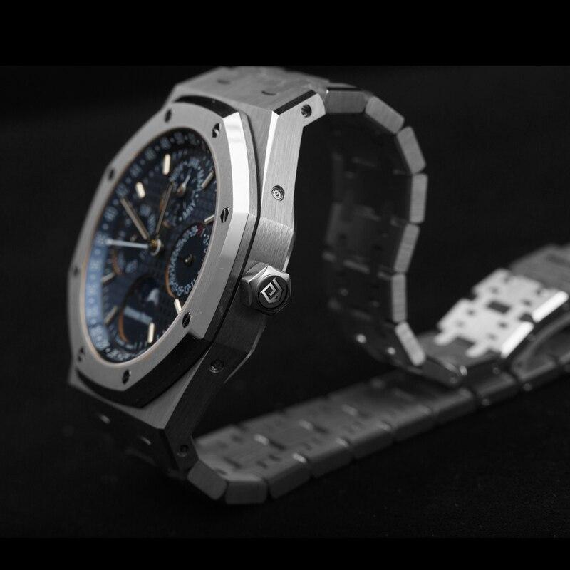 DIDUN автоматические часы для мужчин механические Топ Элитный бренд мужской Moon Phase Дайвинг календари наручные водонепроница