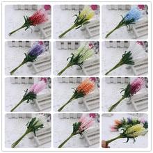2016 new 10pcs/lot DIY Wreaths artificial flowers lavender PE bride wrist flower wedding flowers home decoration Fake flowers