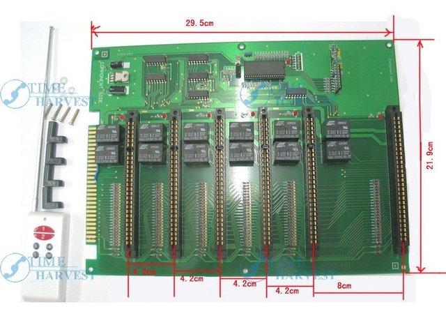 2 unids de 6-en-1 Jamma extensión convertidor de PCB/1 jamma para 6 tablero de la conversión para arcade machine/operador de monedas juego gabinete