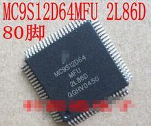 100% NOVA Frete grátis MC9S12D64MFU 2L86D