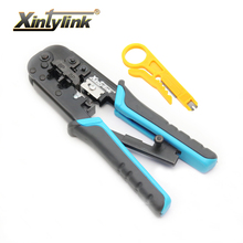 xintylink hand tools pliers RJ12 RJ45 crimper cat6 cat5e cat5 Cable Stripper pressing line clamp tongs clip multifunction все цены