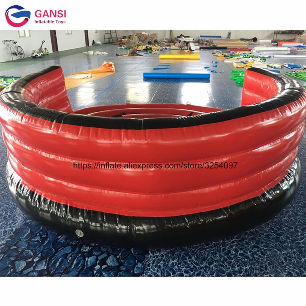 Popular 0.9mm PVC tarpaulin water UFO flying boat ,3m diameter crazy game water ski tube with free air pump