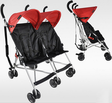 Bello twins baby stroller portable car umbrella suspension folding child double wheelbarrow emperorship