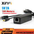 Xinfi DC 5 V 12 W POE Adaptador Inyector Splitter Conector Ieee 802.3af Activo 10/100 Mbps Para Cámaras IP Teléfono VoIP AP 5 V/2A Salida