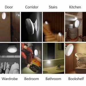 Image 5 - Recargable de Movimiento Activado Sensor de Luz LED USB Luz de La Noche con Magnético, seguro para Los Niños, ideal para Interiores, armario, escaleras, B