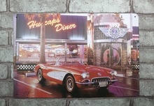1 pc Luxury Antique Sport Car Collection Tin Plate Sign plate wall man cave Decoration Art Dropshipping Poster metal