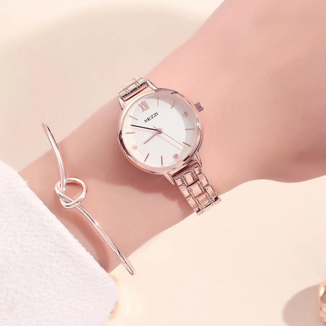 KEZZI Brand Woman Bracelet Watch Creative Dial Waterproof Quartz Wristwatches La