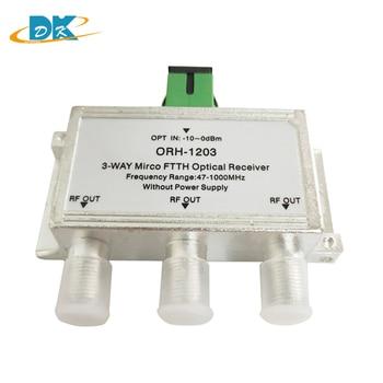 10pcs/lot ORH-1203 CATV Fiber to the home 3 ways mini FTTH optical receiver  47-1000MHz CATV FTTH Optical Receiver