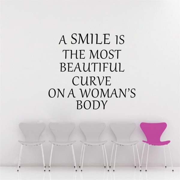 Using Two Quotes In One Sentence: Home Decoration A Smile Is Beautiful Quote Sentences Wall