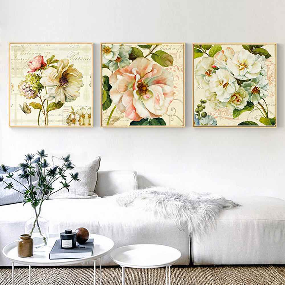 938d71b24 HAOCHU Painting Wall Art Peony Chinese Style Classical Print Poster Birdcage  Simple Wall Pictures Canvas For Living Room Decor-in Painting   Calligraphy  ...