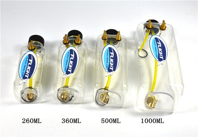 New Flight Model RC Transparent Plastic Fuel Tank For RC Airplane 260ML 360ML 500ML 1000ML