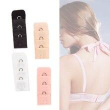 48a90b36a3514 1PC 4 Colors Fashion Free Shipping 2018 Ladies 1 Rows 3 Hooks Bra Extender  Nylon Clasp Extension Elastic On Strap Soft Bra Band