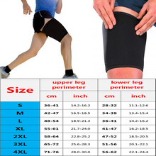 Body Shapers Thigh Sleeve Support Wrap Strap Men 1 Pair Guard Muscle Strain Fitness Compression Leg Warmers