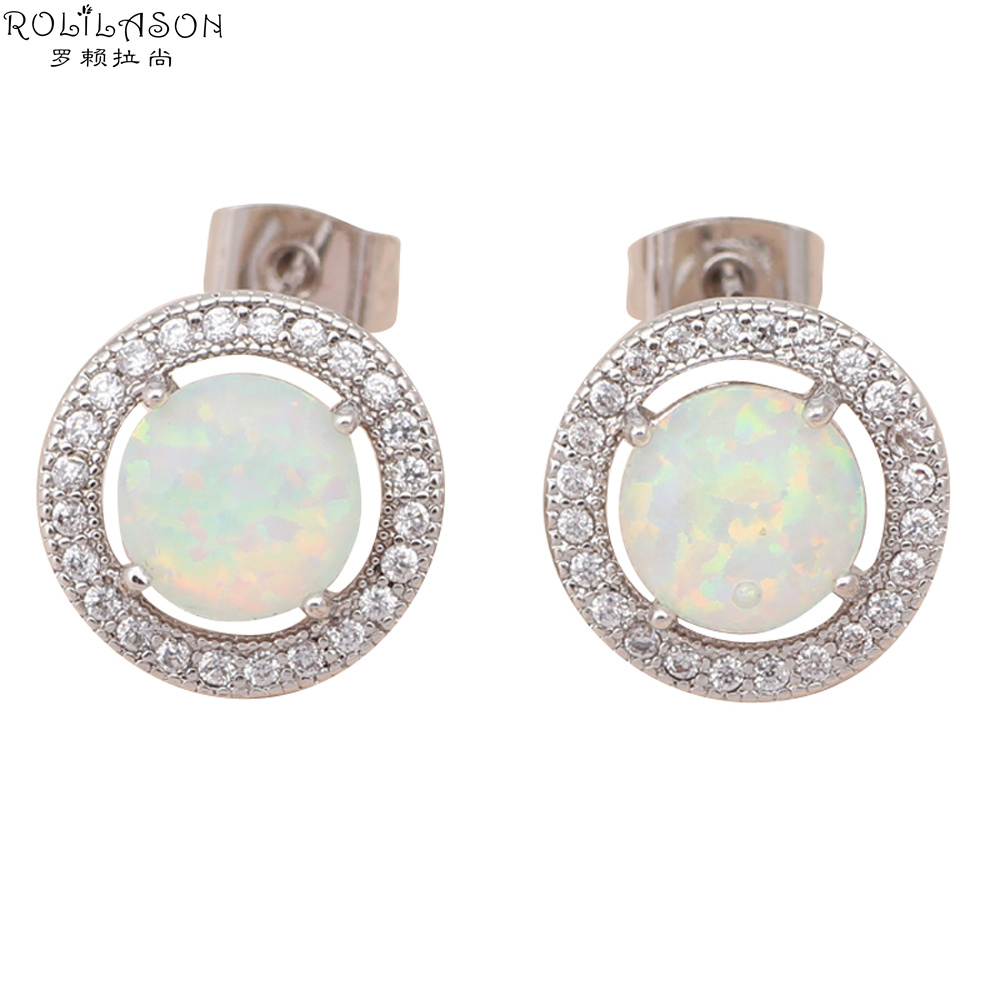 Online Whole Opal Inlay Earrings From China
