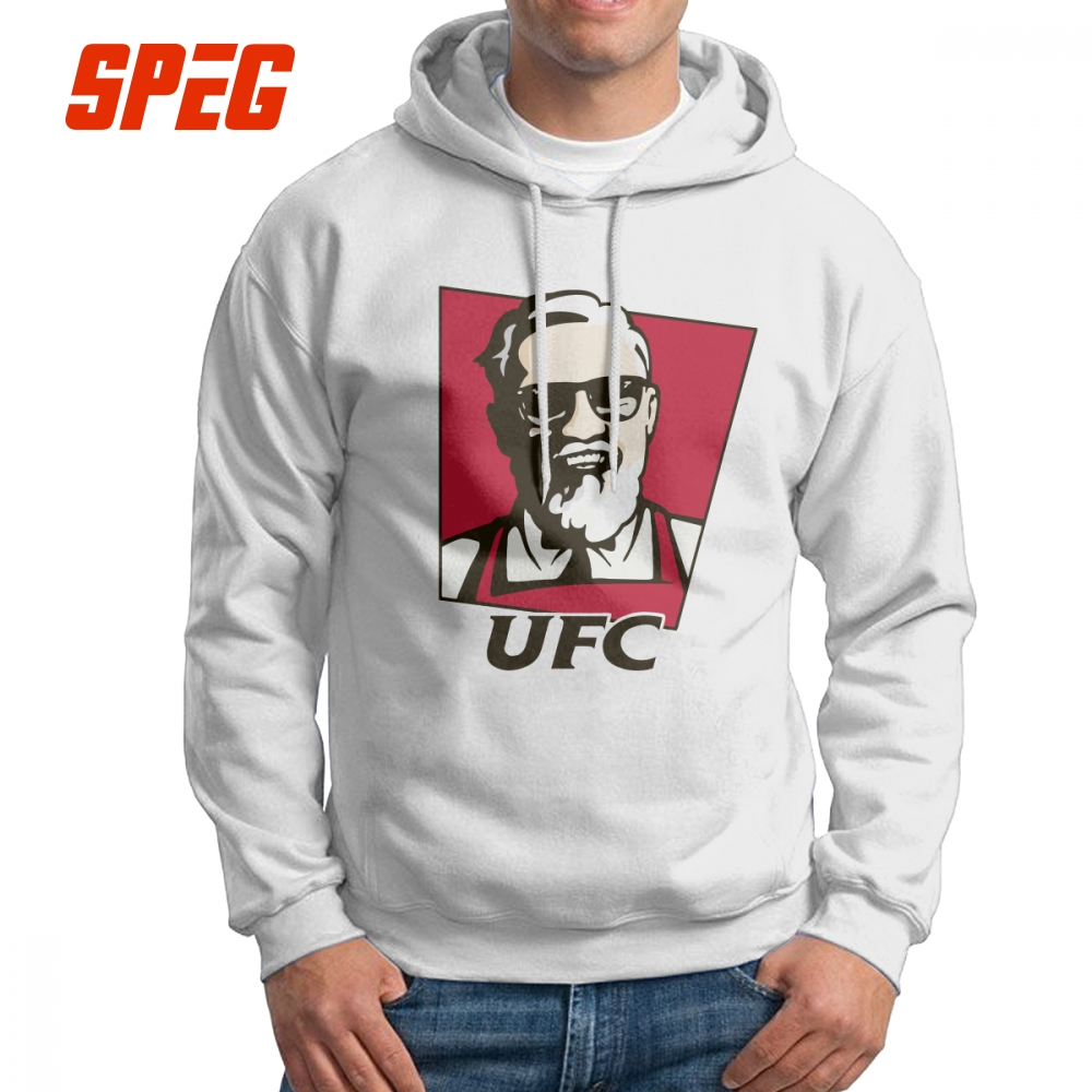 Conor Mcgregor Funny Man Hooded Sweatshirts 100% Cotton Creative Hoodies White Tracksuit for Male