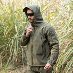 Image 4 - Shark Skin Military Jacket Men Softshell Waterpoof Camo Clothes Tactical Camouflage Army Hoody Jacket Male Winter Coat
