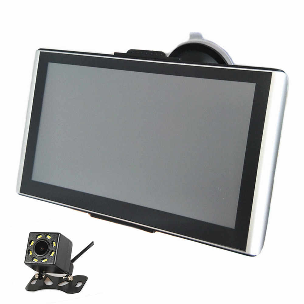 7 インチ車の Gps ナビゲーション CPU800M 8 グラム土ナビゲーションバーと無料の地図、 Bluetooth AV-IN & バックミラーカメラオプション
