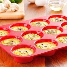 KITNEWER dicke mini Silikon Muffin pan Backblech Cupcake kuchenwerkzeug Silikon Backformen 12 Tasse Backform Kuchenform