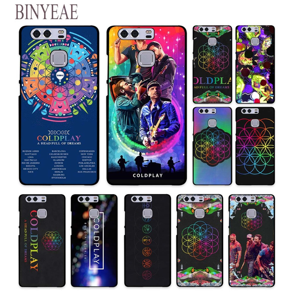 BINYEAE Coldplay A Head Full of Dreams Style hard black Phone Cases for Huawei Mate 10 9 8 S P8 P9 P10 Lite 2017