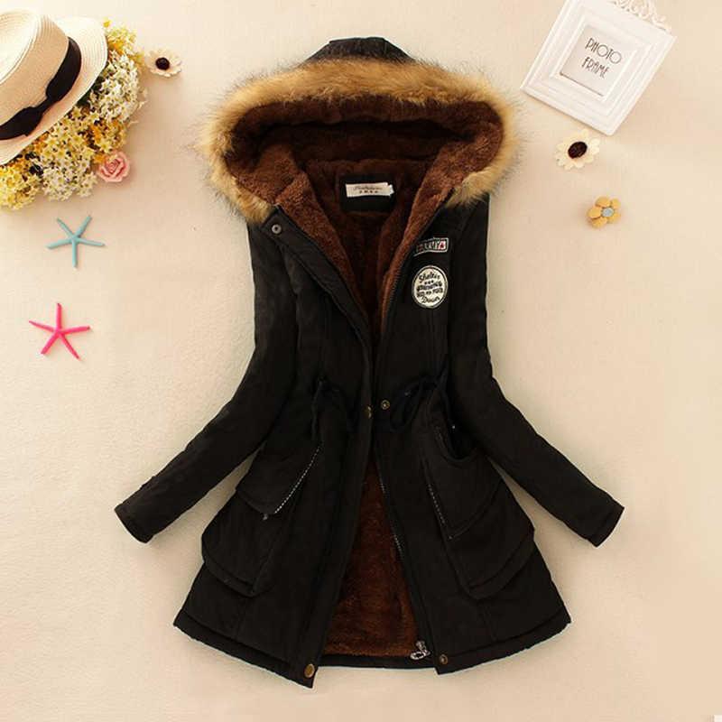 Winter Jacke Frauen 2019 Neue Winter Frauen Parka Casual Outwear Militär Mit Kapuze Mantel Pelz Mäntel Manteau Femme Frau Kleidung CC001