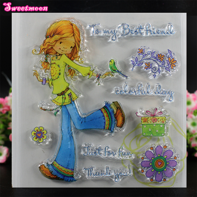 to my best friend scrapbook clear stamp photo cards account rubber