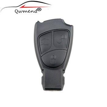 цена на Remote key Case For Mercedes Benz C E ML S SL SLK CLK AMG Soft 3 Buttons MB Smart Original Keys Replacement Fob Cover
