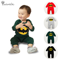 Baby rompers 2016 Brand Cartoon batman top quality baby boy clothes newborn jumpsuit children lot clothing for toddler costumes
