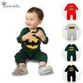Macacão de bebê 2016 Marca Dos Desenhos Animados batman menino roupas de bebê recém-nascido do bebê da qualidade superior macacão crianças roupas muito para trajes da criança