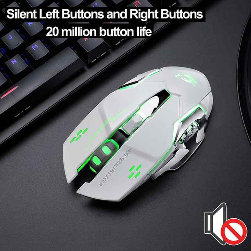 Nóng Sạc X8 Không Dây Silicon LED Backlit Quang USB Ergonomic Chuột Chơi Game Máy Tính Máy Tính Cho iMac Pro Macbook Laptop