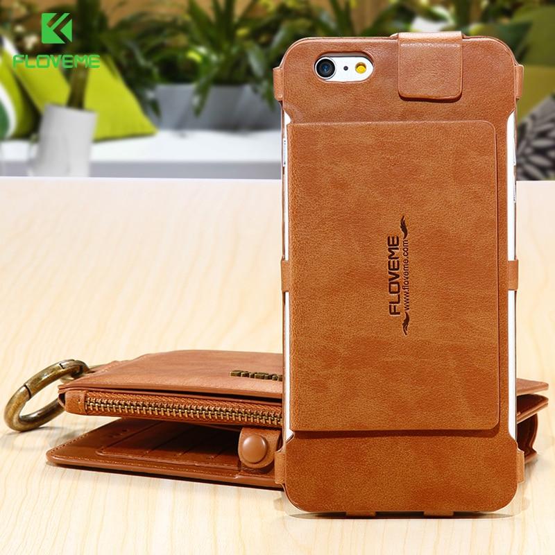 bilder für FLOVEME 6 s 7 Plus Tasche multifunktionale Fall Für Apple iPhone 7 7 Plus 6 6 S 6 Plus 6 S Plus Leder Kartenhalter Brieftasche Stehen abdeckung