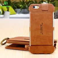 Floveme Retro Multi Functional Case CapaFor Apple IPhone6 Plus 6S Plus Leather Folded Card Holder Wallet