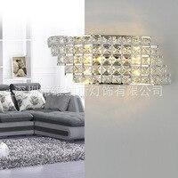 TUDA LED 壁ランプ結晶壁ランプの寝室のベッドサイドランプダイヤモンド錬鉄製の壁ランプ 110 V 220 V