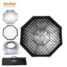 "Godox Softbox 140 cm 52 ""אוקטגון כוורת רשת Softbox רך תיבת עם Bowens הר לסטודיו פלאש"