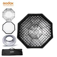 """Softbox Godox caja blanda de rejilla de nido de abeja, octagonal, 140cm, 52 """", con soporte Bowens para Flash de estudio"""