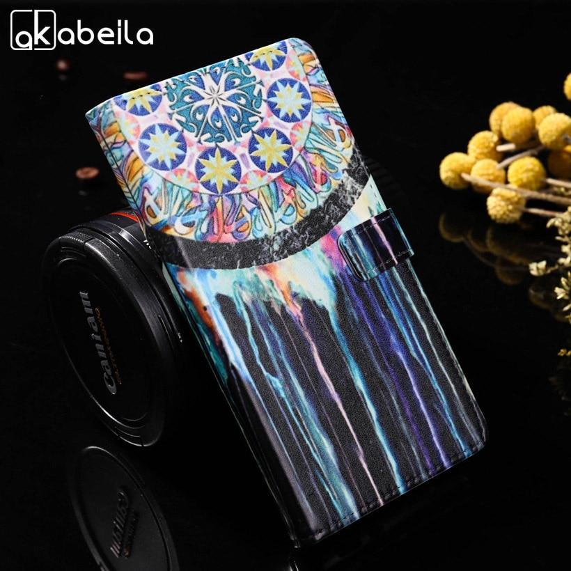 AKABEILA PU Leather Mobile Phone Cases For Sony Xperia M5 Aqua E5603 E5606 E5653 E5633 E5643 E5663 Covers Wallet Holster Shell