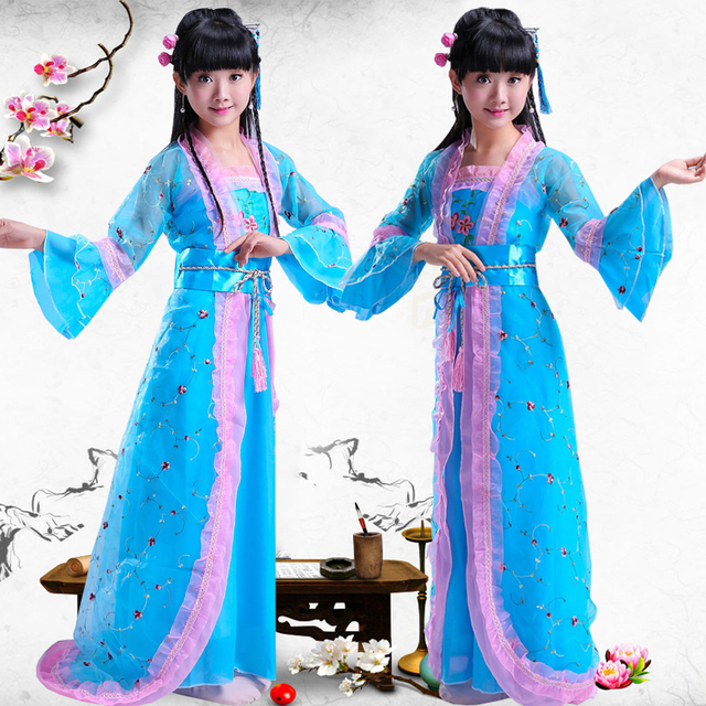 d0ee25e6dfcd Children s Chinese Traditional Costume Ancient Tang Dynasty Princess ...
