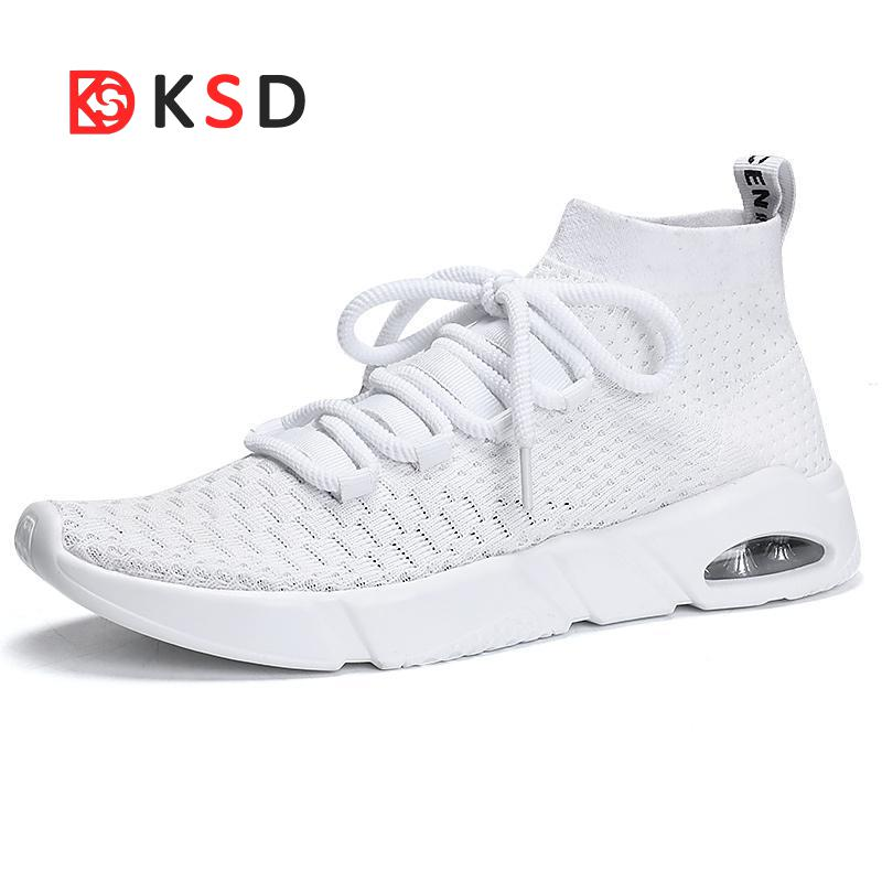 New Running Shoes Sneakers For Men Masculino Esportivo Lightweight Flying Sport Cheap Sneaker Free Run Stability High Help