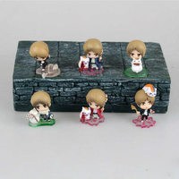 Anime model figure Natsume's Book of Friends 6pcs/set Natsume Takashi & Nyanko Sensei collection 5cm boxed T7120