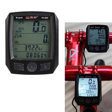 LCD Bicycle Computer Night Light Bike Cycling Stopwatch with Calorie Consumption Display Bicycle Odometer Speedometer Rainproof