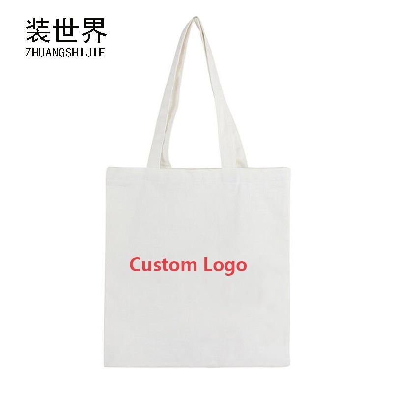 38*34cm Cotton Canvas Printing Handbags For Women Shopping Book Tote Bag Handbag Custom Logo Print Ladies Shoulder Bags BB033 fn01 multifunction canvas shoulder bag handbag backpack for women khaki