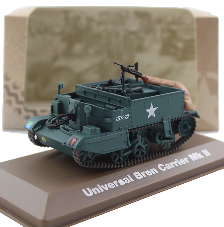 ATLAS 1/43 World War II Universal Bren carrier Mk II The British guards armoured division Alloy model Collection model Holiday av72 1 72 the british ah 1 gulf war av7224005 gazelle helicopter alloy collection model holiday gift